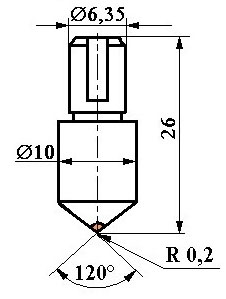 Алмазный наконечник НК1
